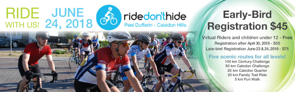Ride Don't Hide 2018 Training Rides