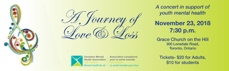 A Journey of Love and Loss – A concert in support of youth mental health