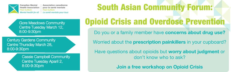 South Asian Community Forum: Opioid Crisis and Overdose Prevention