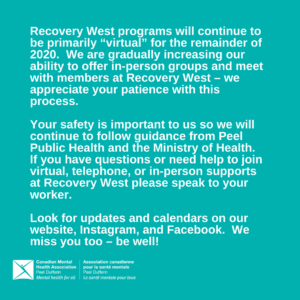 Recovery West Services Update